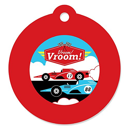 (Let's Go Racing - Racecar - Baby Shower or Race Car Birthday Party Favor Gift Tags (Set of)