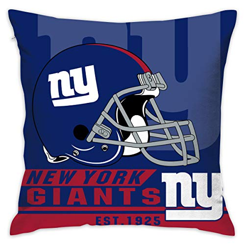 - Marrytiny Custom Pillowcase Colorful New York Giants American Football Team Linen Bedding Pillow Covers Pillow Cases for Sofa Bedroom Bedding Car Home Decorative - 18x18 Inches