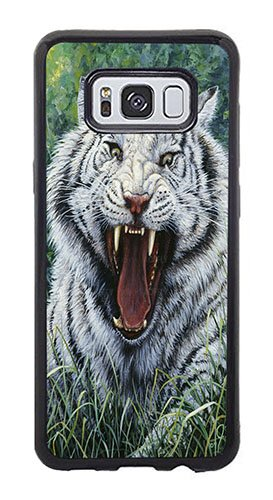 Beguiling Tiger - AOFFLY Case for Samsung Galaxy S8 Plus Only - Jeff Tift - White Tiger 2 - Shock Absorption Protection Phone Cover Case