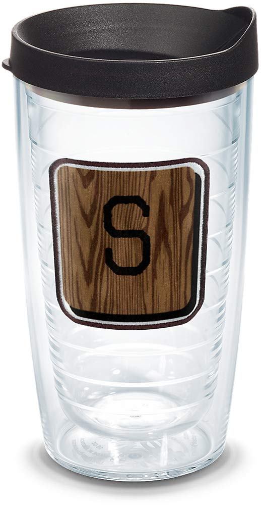 Buy Tervis 1316685 Initial S Wood Tile Insulated Tumbler With Emblem And Lid 16 Oz Tritan Clear Online At Low Prices In India Amazon In