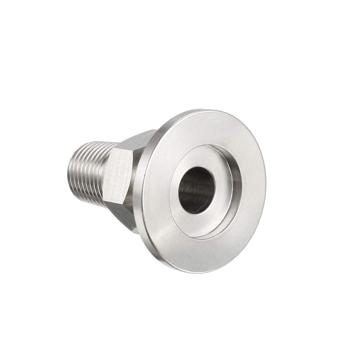 uxcell Sanitary Pipe Fitting KF16 Male Threaded 1//4 PT to Tri Clamp OD 30mm Ferrule 2 Pcs