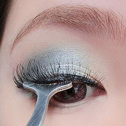 d3d6a681c3c Amazon.com : BrandChef(TM) 1pcs False Fake Eyelashes Clip Stainless Steel  Eye Lash Eyelash Curler Applicator Beauty Brand Makeup Cosmetic Tool  Maquiagem ...