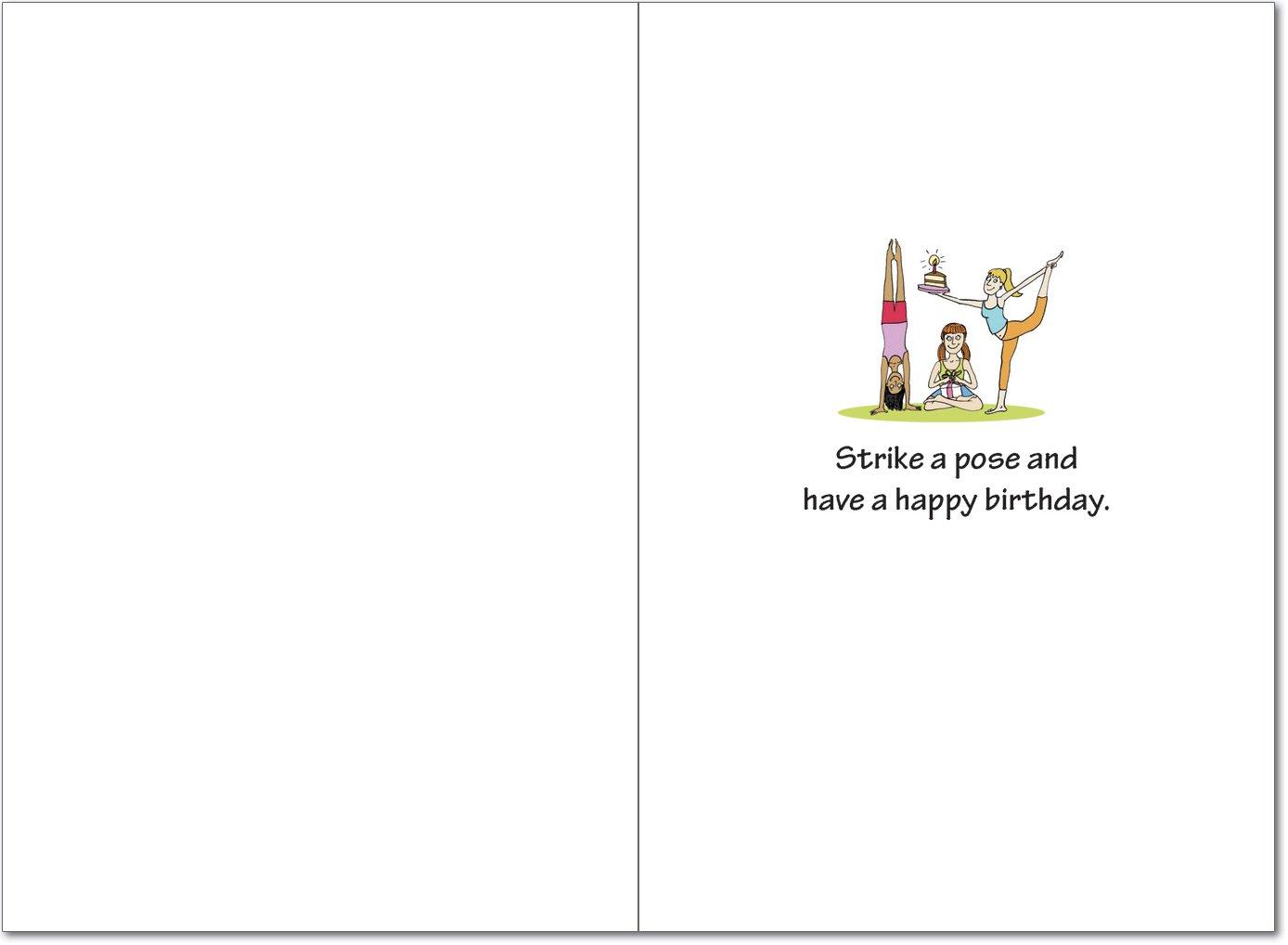 Amazon 4397 Birthday Yoga Funny Birthday Card With Envelope