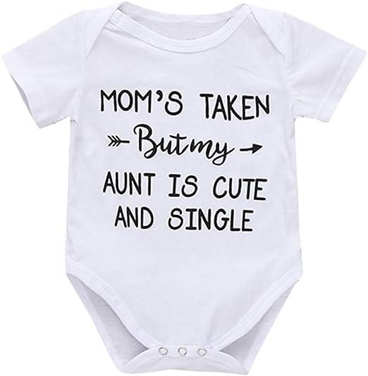 Summer Infant Baby Boy Romper Jumpsuit Playsuit Bodysuit Letter Printed Outfit