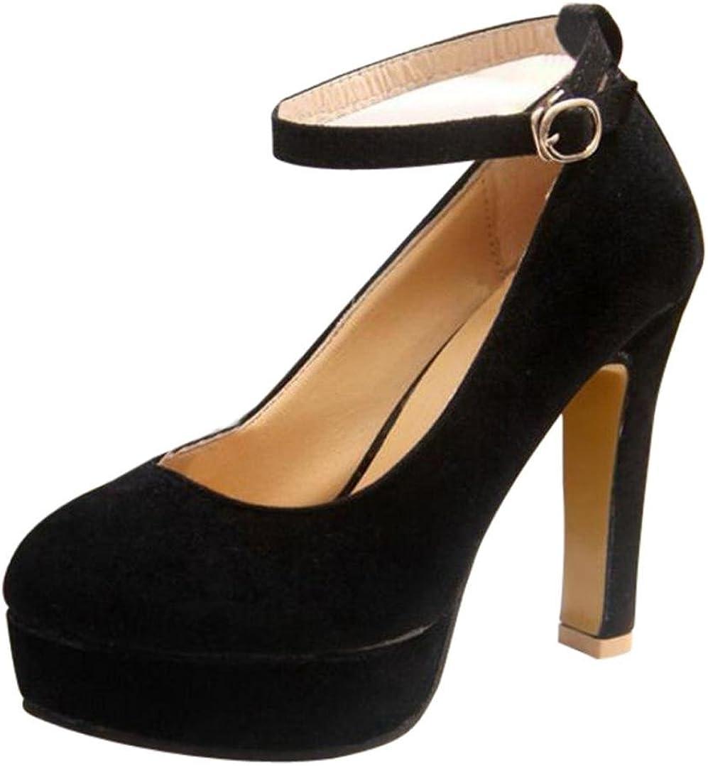 Scarpe da Donna Scarpe con Cinturino alla Caviglia Scarpe con Tacco Alto Scarpe da Sposa zycShang Scarpe Casual da Donna