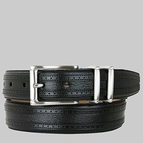[Mezlan Men's Belts Men's Tyson II Deerskin Belt, black, B360] (Mezlan Black Belt)