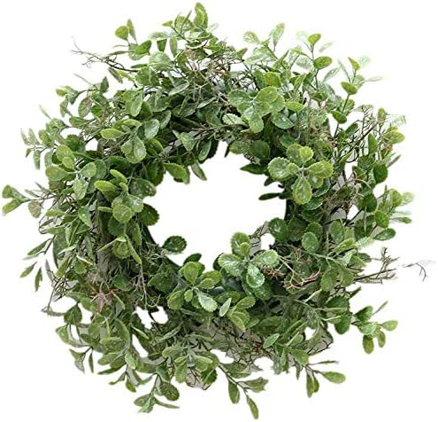 Vintage Boxwood Green Garland for Home Wedding Decoration GUFIKY 10-Inch Eucalyptus Wreath