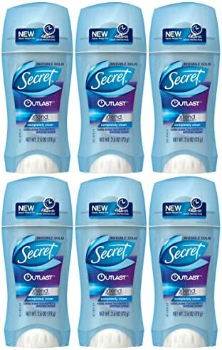 Secret Outlast Xtend Invisible Solid Antiperspirant Deodorant for Women, Completely Clean, 2.6 oz