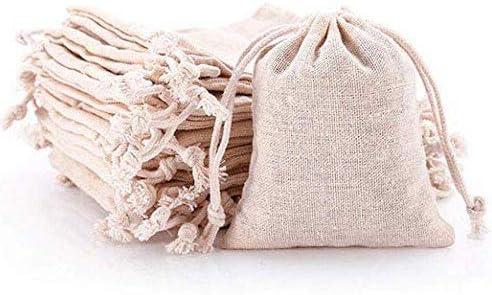 Keeppy 100 Bolsas de algodón con cordón de algodón, pequeñas ...