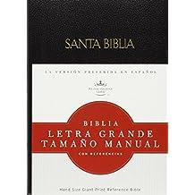 La Santa Biblia / Holy Bible: Reina-Valera 1960, negro, imitacion piel, Biblia letra grande tamano manual con referencias / Black Imitation Leather, Hand Size Giant Print Reference Bible