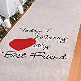 Arts & Crafts : Today I Marry My Best Friend Aisle Runner Wedding Ceremony White Bridal