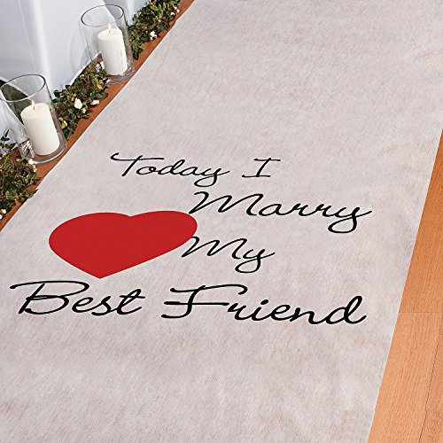 Friend Runner Wedding Ceremony Bridal