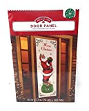 Christmas Holiday Santa with a Bag of Gifts Door Panel Cover ~ Measures 30 x 72: more info