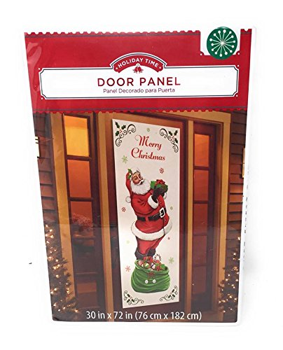 Christmas Holiday Santa with a Bag of Gifts Door Panel Cover ~ Measures 30 x 72