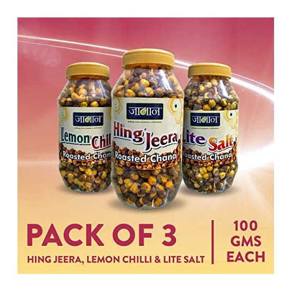 JALAN Roasted Chana Mix Flavour ( LC+PP+ LS ) 100gm x 3pc Total Wt.= 300gm