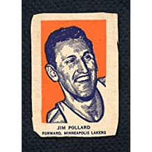 1952 Wheaties Jim Pollard Portrait Lakers VG 310483 Kit Young Cards