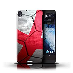 KOBALT? Protective Hard Back Phone Case / Cover for HTC Desire 816 | England/English Design | Football Nations Collection