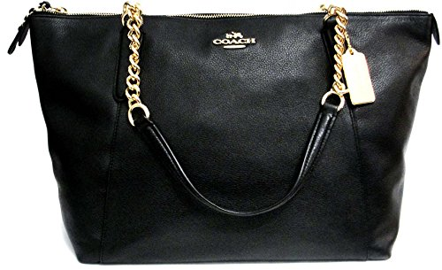 COACH AVA CHAIN TOTE F22211, LIGHT GOLD/BLACK by Coach