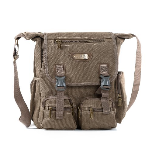 SOS Messenger Bag School, Multifunctional Canvas Shoulder Bag for Work, Students, and Messenger Diaper Bag for Moms and Dads - Sierra by Seed of Solace