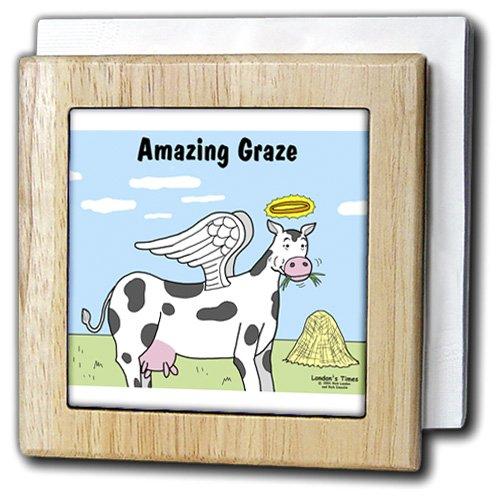 リッチDiesslins Funny Cow漫画 – Cow Angel – タイルナプキンホルダー 6