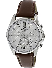 Casio Men's Edifice EFR560L-7AV Brown Leather Quartz Dress Watch