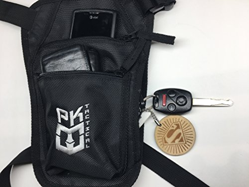 PK Tactical Parkour / Freerunning Leg Bag, Running Belt for extreme athletes, runners, gymnasts, ninjas, rock climbers and more. by Warrior Life Gear (Image #2)