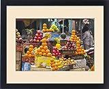 Framed Print of India,Uttar Pradesh,Varanasi. Assorted fresh fruits for juice and eating at a