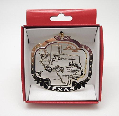 Texas State Christmas Ornament Souvenir Gift Dallas San Antonio Houston Austin +More by Nations Treasures (Texas Ornaments Christmas)