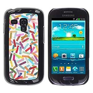 Be Good Phone Accessory // Dura Cáscara cubierta Protectora Caso Carcasa Funda de Protección para Samsung Galaxy S3 MINI NOT REGULAR! I8190 I8190N // Abstract Colorful Pastel Lines P