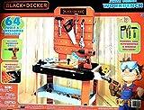 BLACK+DECKER Junior Power Workbench Workshop with Realistic Action Lights & Sounds - 64 Tools & Accessories [Hotsaleonline]
