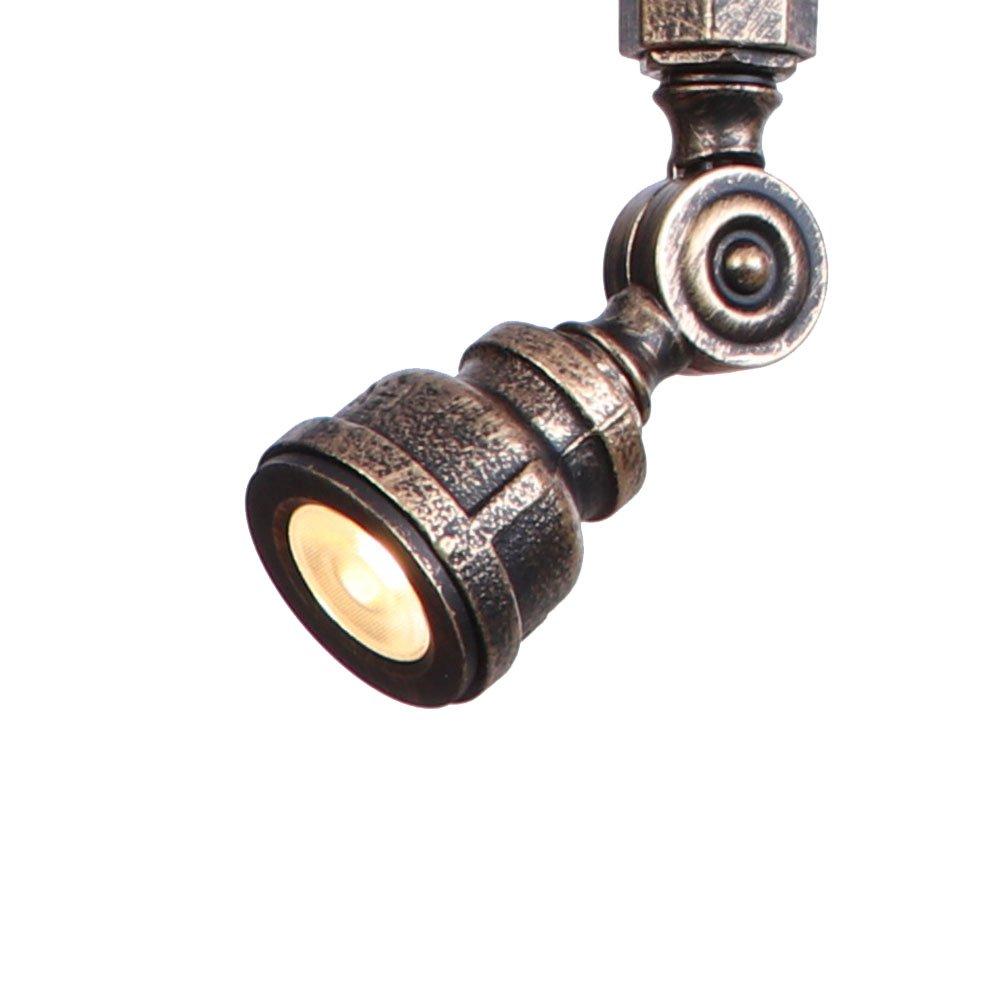 Solucky Deckenlampe Retro Industrie Steampunk Wasserrohr Eisen