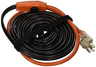 Frost King HC24A Automatic Electric Heat Cable Kits, 24Ft x 120V x 7 Watts/Ft, Black