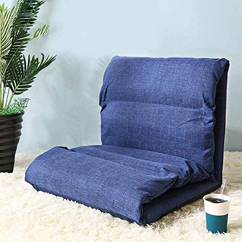 HLR Chaise de méditation Chaise pour Yoga Lazy Couch, Pliant Gaming Sofa Chaise Lit Pliant Sleeper Lit Réglable Canapé Inclinable Chaise de Plancher