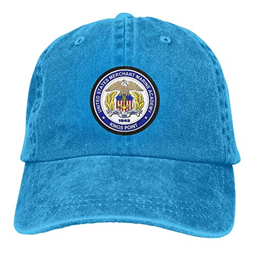 (Denim Dad Hats Adjustable Snapback Hat Baseball Cap United States Merchant Marine Academy - Kings Point)