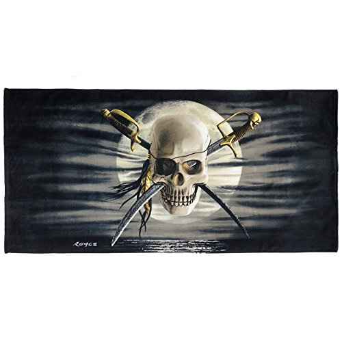 Kaufman - Patch Skull Printed Beach Towel- by Royce