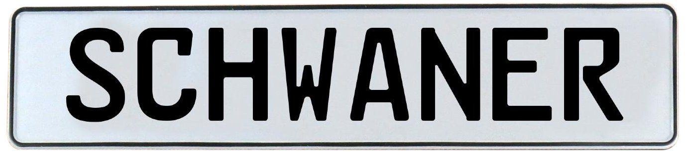Schwaner Vintage Parts 750186 White Stamped Aluminum Street Sign Mancave Wall Art