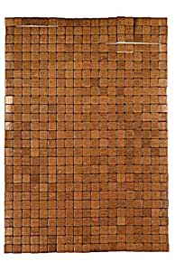 Kleine Wolke 5051318442 Mosaik - Alfombra de madera (50 x 70 cm), color marrón