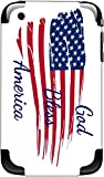 American Flag God Bless America Quote iPhone 3G and 3GS Vinyl Decal Sticker Skin
