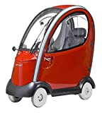 Shoprider - Flagship - Mid-Size Fully Enclosed - 4-Wheel - Red