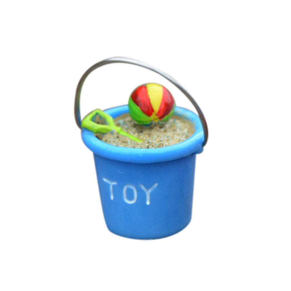 Glumes 3pcs Resin Beach Bucket Moss Micro Landscape Decoration Sea View Decoration DIY Assembly Decoration Accessories Material