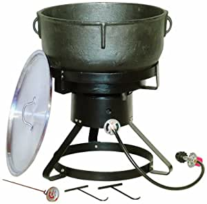 King kooker 1740 17 1 2 inch outdoor cooker for Cast iron fish fryer