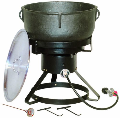King Kooker 1740 17-1/2-Inch Outdoor Cooker with 10 Gallon Cast Iron Jambalaya (Lp Large Steel Bottom)