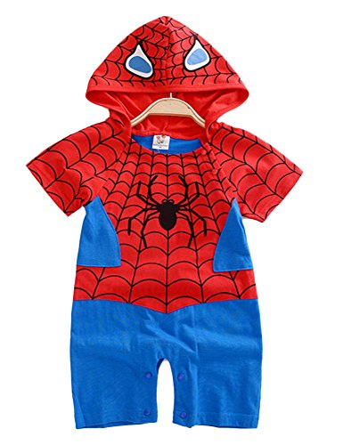 Es Unico Spiderman Inspired Baby Onesie Costume, One Piece Romper Bodysuit for Baby Girls and Boys. Baby Shower Gift. (9-12 Months)