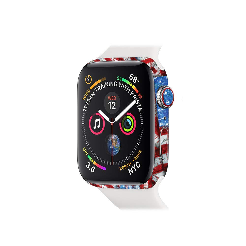 MightySkins Skin for Apple Watch Series 4 44mm - Flag Drips | Protective, Durable, and Unique Vinyl Decal wrap Cover | Easy to Apply, Remove, ...