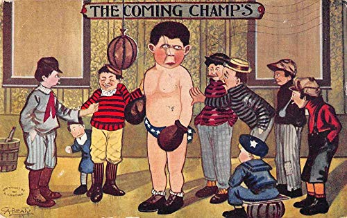 The Comping Champs Boxer Sports Artist Signed Vintage Postcard AA1163