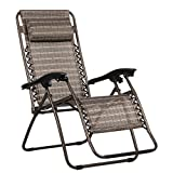 Cheap Finether Folding Zero Gravity Lounge Chair with Adjustable Headrest, Bronze