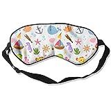 Sleep Mask Marine Life Eye Cover Blackout Eye Masks,Soothing Puffy Eyes,Dark Circles,Stress,Breathable Blindfold