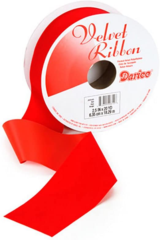 "Great for Christmas 2.5/"" Wired Red Velvet Ribbon Holiday Decor 20 Yards"