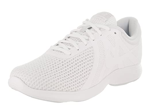 480ed9ca55184 Image Unavailable. Image not available for. Color  NIKE Women s Revolution 4  (Wide) White White Pure Platinum Running Shoe 10