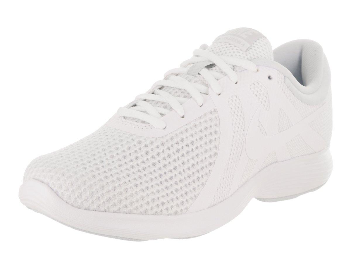 NIKE Women's Revolution 4 (Wide) White/White/Pure Platinum Running Shoe 7.5 2E Women US